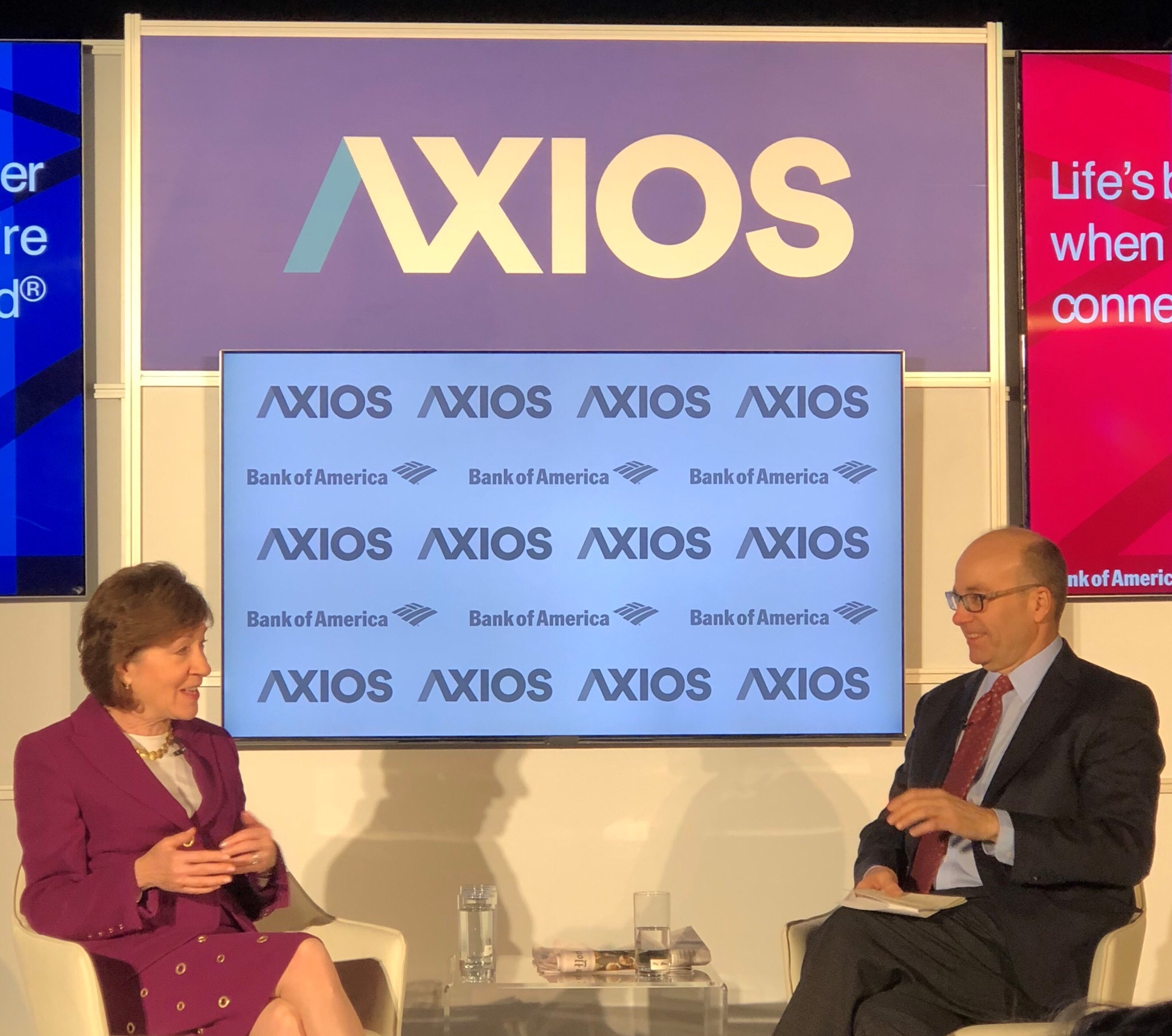 Sen. Susan Collins (R-ME) with Mike Allen