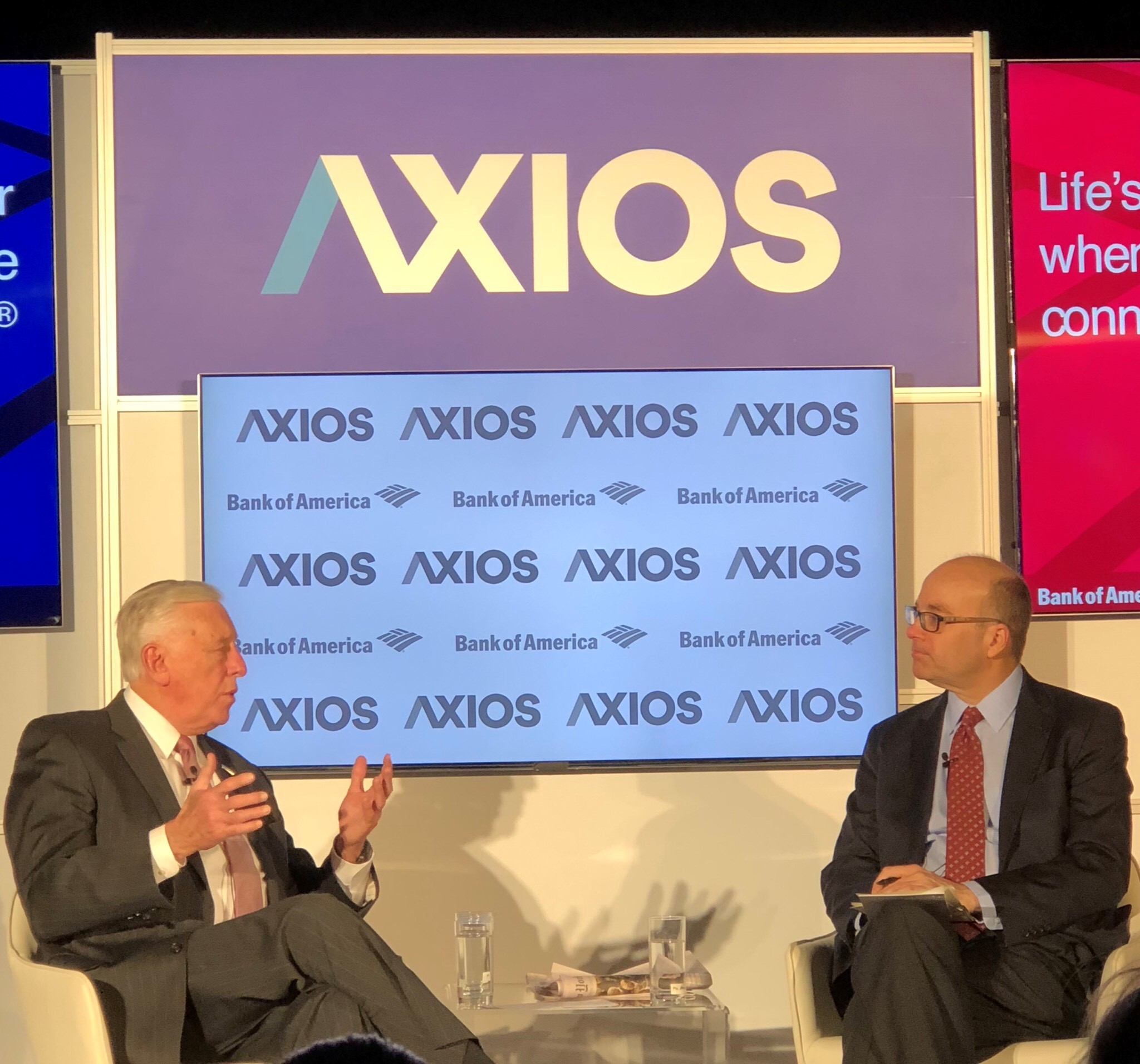 House Democratic Whip Steny Hoyer (D-MD) with Axios Co-Founder Mike Allen